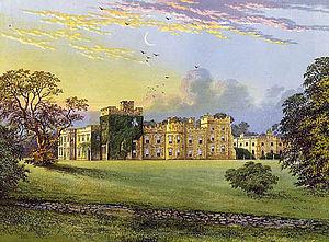 Hornby Castle, Yorkshire - Hornby Castle before partial demolition