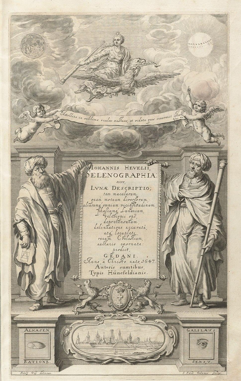 Houghton Typ 620.47.452 - Selenographia, title