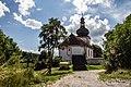 Hradiště Lštění s kostelem svatého Klimenta.JPG