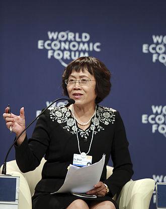 Hu Shuli - Hu Shuli at the World Economic Forum Annual Meeting of the New Champions in Tianjin, China 2012