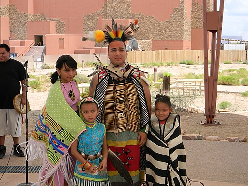 Hualapai family in traditional costume from Arizona