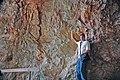Huge potassium feldspar crystal (Ruggles Pegmatite, Devonian; Ruggles Pegmatite Mine, southern New Hampshire, USA) (15669755939).jpg