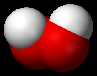 Hydrogen chalcogenide - Image: Hydrogen peroxide 3D vd W