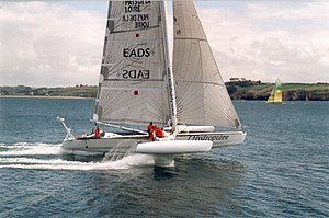 Speed sailing record - l'Hydroptère, the previous nautical mile record holder