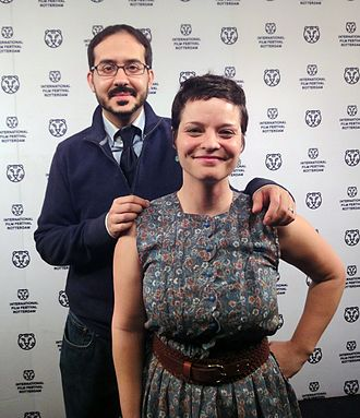 Our Nixon - Penny Lane and  Francisco Bello at the International Film Festival of Rotterdam 2013 to promote Our Nixon