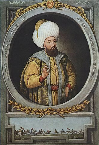 Siege of Thessalonica (1422–1430) - Ottoman sultan Murad II. Idealised 19th-century portrait by Konstantin Kapıdağlı