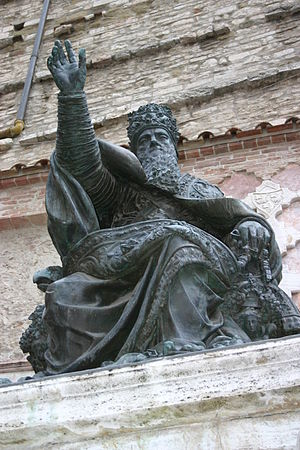 Pope Julius III - Bronze statue in Perugia, 1555
