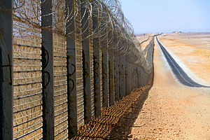 Egypt–Israel barrier - The new section of fence, north of Eilat