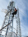 Ice Wireless Building 3G HSPA+ base station tower.jpg