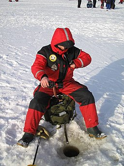 Ice fishing in miljoonapilkki fishing competition
