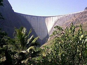 Idukki Dam - Image: Idukki Dam Concave Side