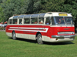 Ikarus 55 with doors in front and in the middle
