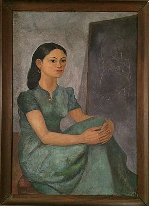 Federico Cantú Garza - Portrait of Cantú's first wife Luz Fabila