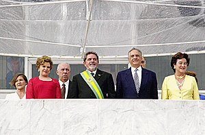 Fernando Henrique Cardoso - Fernando Henrique Cardoso, with his wife Ruth Cardoso (right), at the inauguration of Luiz Inacio Lula da Silva on January 1, 2003.