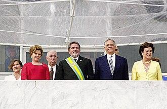 Fernando Henrique Cardoso - Fernando Henrique Cardoso, with his wife Ruth Cardoso (right), at the inauguration of Luiz Inacio Lula da Silva on January 1, 2003.