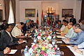 Indian and Seychellois delegations meet for bilateral talks in the Salon Maritime at state House in 2015.jpg