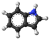 Ball-and-stick model of indole