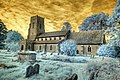 Infrared HDR St Mary's church Framsden Suffolk (3249837093).jpg