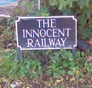 Edinburgh and Dalkeith Railway - A sign marking the Innocent Railway