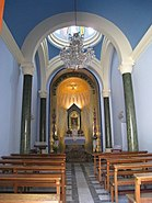 Inside the Our Lady of the Assumption Church in Bzoummar, Lebanon