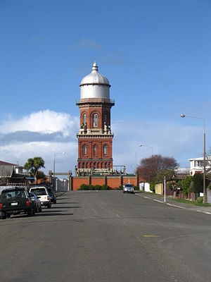 Southern Scenic Route - Invercargill Water Tower, viewed from Leet St
