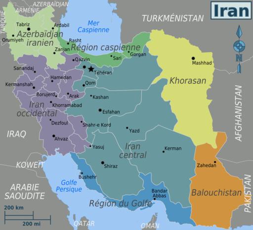 Iran regions map fr