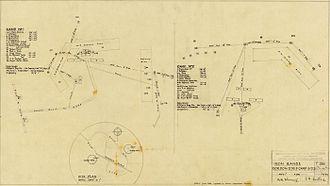 Kutini-Payamu (Iron Range) National Park - Plan of airbase. Circa 1942