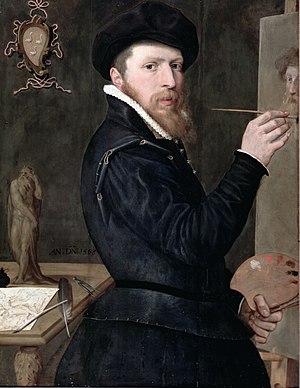 Isaac Claesz. van Swanenburg - Self-portrait 1568