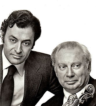 Zubin Mehta - with Isaac Stern at Lincoln Center, 1980