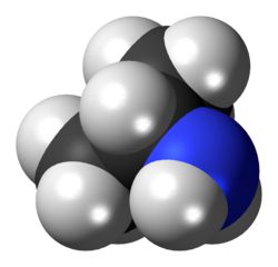 Isopropylamine molecule spacefill.png