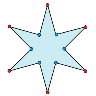 Star polygon - Image: Isotoxal star hexagon 12 5