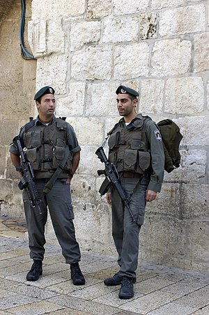 Israel Border Police - Magavniks in Jerusalem