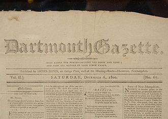 The Dartmouth - One of the first issues of the Dartmouth Gazette
