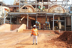 Mining industry of Ivory Coast - Image: Ivorian Women in Mining IndustryːThe senior first metallurgist woman in Ivory Coast