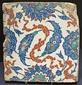 Iznik tile from Turkey, 17th century, Dayton Art Institute.JPG
