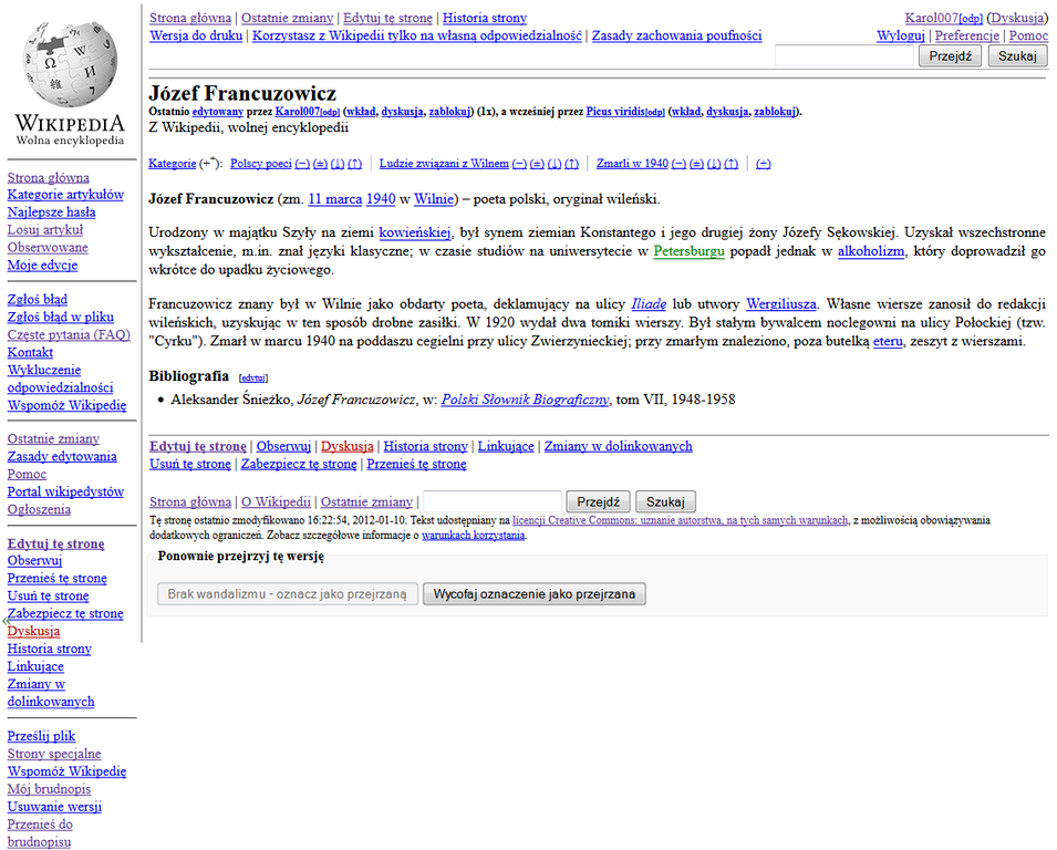 Filejózef Francuzowicz Polish Wikipedia Article Standard