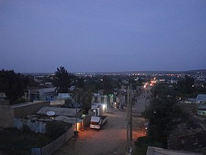 Jijiga - Jijiga at night.