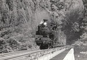 Tadami Line - C11 289 between Aizu-Nishikata and Aizu-Hibara, November 1973
