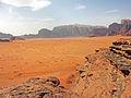Jabal Ram long view from Wadi Rum rock outcrop.jpg