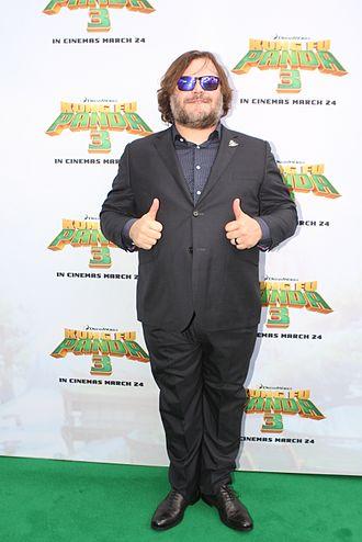 Jack Black - Black posing to promote Kung Fu Panda 3
