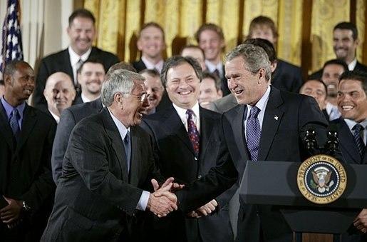 Jack McKeon and George W. Bush