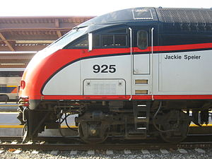 Jackie Speier - Caltrain Locomotive named after Jackie Speier