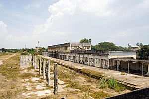Jaffna railway station - Abandoned station in August 2011