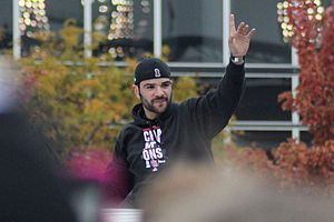 Jaime García - García during the 2011 World Series parade.