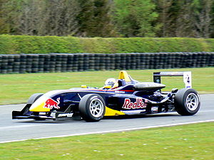 Jaime Alguersuari - Alguersuari driving for Carlin Motorsport at the Croft round of the 2008 British Formula Three season