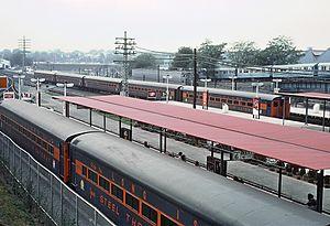 Jamaica (LIRR station) - Jamaica Station in September, 1964