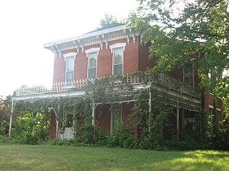 Monticello, Indiana - James Culbertson Reynolds House in Monticello is listed on the National Register of Historic Places