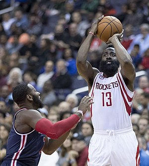 James Harden - Harden shoots over John Wall in November 2016