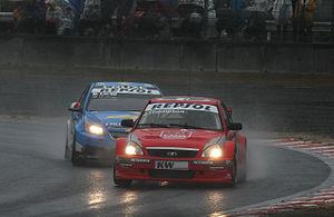 James Thompson leads Nicola Larini 2009 WTCC Race of Japan (Race 1).jpg