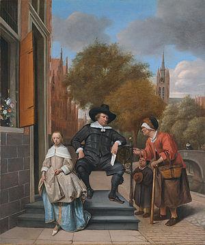 Jan Steen - Adolf en Catharina Croeser aan de Oude Delft 1655.jpg